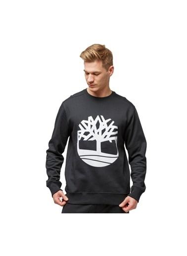Timberland  Yc Core Tree Logo Crew Neck Erkek Sweatshirt Siyah Siyah